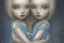 The Art of Nicoletta Ceccoli / Nicoletta Ceccoli was born in San Marino Italy and graduated from the Institute of Art in Urbino. Her paintings are beautiful and intriguing, consistently striking a delicate balance between disturbing and enchanting. At first glance, her work masquerades as youthful and innocent but a darker narrative inevitably unfolds. / by Harold A. Cowx