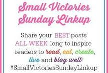 Small Victories Sunday / This board is for bloggers to share their best family-friendly posts, old and new to inspire our readers to read, eat, create, live and blog well! Bloggers, send me a message to be added to this board and limit your pins to 3 per week. Please repin one post for every pin you add. No religious or political posts. Thanks!