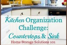 Organized Home Challenge / Printables for the Organized Home Challenge. Taking organizing my home one week at a time.