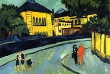 """Ernst Ludwig Kirchner / Ernst Ludwig Kirchner was a German expressionist painter and printmaker and one of the founders of the artists group Die Brücke or """"The Bridge"""", a key group leading to the foundation of Expressionism in 20th-century art."""
