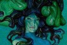 Mythology: Underwater Folk / Artwork depicting underwater dwellers