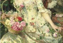 Art: Ladies & roses