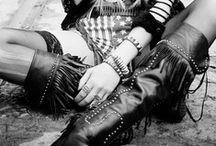 ! bohemian rock chic