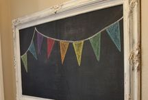 Chalkboard / Ideas & Inspiration for making my spaces cozy / by Amber Knouse