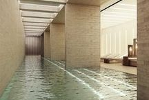 Pools. Indoor. / Architecture and interiors design. Indoor or covered pools.
