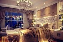 Bedchamber and spa for us / Luxury, comfort and elegance in bedrooms and baths, for Hubby and me!  / by Mrs. Olson ~ kah