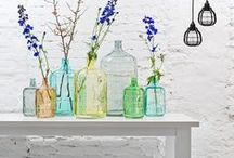 DIY recycling glass bottles & jars  / Ideas for reusing and recycling glass jars and glass bottles in the home. For more inspiration visit | www.naturalmoderninteriors.blogspot.com