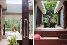 natural outdoor bathrooms ideas / For more inspiration visit | www.naturalmoderninteriors.blogspot.com