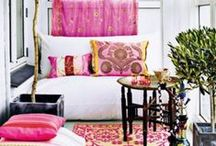 interior decor :: pink / When I am thinking of a new colour scheme or new interior design or decor project I start with a images that capture colour inspiration, texture, patterns, furniture and design style to help form an interior design mood board. For more information on how to create your own design style  and colour mood boards visit | http://naturalmoderninteriors.blogspot.com.au/p/interior-design-online-e-courses.html