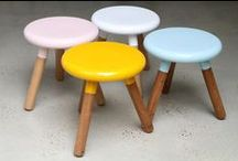 stools & chairs :: handmade & recycled  / For more inspiration visit | www.naturalmoderninteriors.blogspot.com