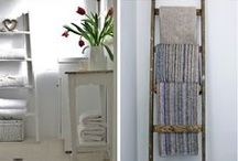 DIY ladder ideas / For more inspiration visit | www.naturalmoderninteriors.blogspot.com