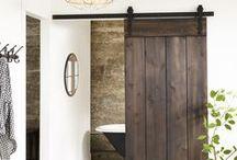 Splish Splash   ~  Bathroom Ideas  Claw Foot Tubs / All types of claw foot tubs. Pedestal based, vintage etc.  Barn sliding doors