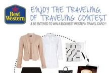 "How to Enjoy the Traveling, of Travel / In honor of Small Business Week, we are holding a contest where one person will win a $500 Best Western Travel Card! Share with us the things you enjoy while out on the road traveling for business. Whatever it is you do that helps you enjoy the time traveling, pin it to your board titled ""How to Enjoy the Traveling, of Travel"" and post a link to it in the comments with your name for a chance to win! / by Best Western"