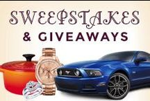 Sweepstakes & Giveaways / The latest and Greatest SWEEPSTAKES & GIVEAWAYS! / by WomanFreebies.com
