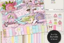 {100% Princess} Digital Scrapbook Collection by Digilicious Design available at Sweet Shoppe Designs / A sweet and gorgeous Collection perfect for any little princess, young or old!