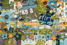 {Sprout} Digital Scrapbook Kit by Digilicious Design and Erica Zane / A digital scrapbooking kit by Digilicious Designs & Erica Zane, Sprout is dedicated to all those growing boys (& girls!) that seem to sprout like weeds.