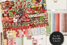 {Apple of My Eye} Digital Scrapbook Collection by Digilicious Design available at Sweet Shoppe Designs / A gorgeous Collection perfect for apple picking, farm and autumn-themed projects!