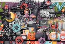 {Bibbity Bobbity Boo} Digital Scrapbook Kit by Digilicious Design available at Sweet Shoppe Designs / A gorgeous Halloween kit, perfect for kid's projects and parties! Full of cute elements and fun papers, it also comes complete with a set of beautifully textured Kraft Solids and Full Alpha.