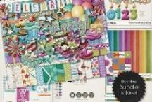{Born to Party} Digital Scrapbook Collection by Digilicious Design available at Sweet Shoppe Designs / A fun party and birthday themed Collection that is full of colour and good cheer!