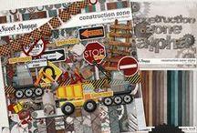 {Construction Zone} Digital Scrapbook Kit by Digilicious Design / (Construction Zone} Digital Scrapbook Kit by Digilicious Design available at sweetshoppedesigns.com #digiscrap #digitalscrapbooking #digiliciousdesign