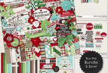 {Dear Santa} Digital Scrapbook Collection by Digilicious Design / What are you wishing for this year? This Collection is perfect for recording Christmas wishlists, getting ready for Santa's arrival, and just the general fun of the season!