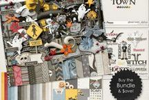 {Ghost Town} Digital Art Collection by Digilicious Design / Ghost Town is the perfect kit for all your Halloween projects!