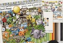 {Grunt, Roar & Snort} Digital Scrapbook Collection by Digilicious Design
