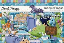 {Monster Mash} Digital Scrapbook Kit by Digilicious Design available at Sweet Shoppe Designs