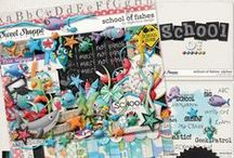 {School of Fishes} Digital Scrapbook Collection by Digilicious Design available at Sweet Shoppe Designs