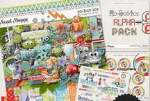 {Robotics} Digital Scrapbook Collection by Digilicious Design available at Sweet Shoppe Designs