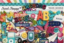 {Teen Scene} Digital Scrapbook Collection by Digilicious Design available at Sweet Shoppe Design