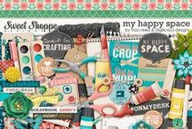 {My Happy Space} Digital Scrapbook Kit by Digilicious Design available at Sweet Shoppe Designs