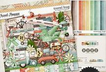 {Travel Bug} Digital Scrapbook Collection by Digilicous Design available at Sweet Shoppe Fesigns