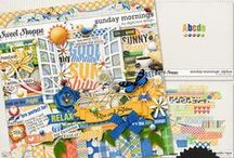 {Sunday Mornings} Digital Scrapbook Kit by Digilicious Design available at Sweet Shoppe Designs