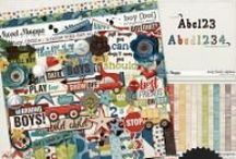 {Boy} Digital Scrapbook Collection by Digilicious Design / Quite simply, this is a kit for boys!! Very versatile with a gorgeous colour palette, you'll find this collection is perfect for all your boyish snap shots.