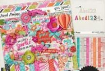 {Girl Power} Digital Scrapbook Collection by Digilicious Design / Quite simply, this is a kit for girls!! Very versatile with a gorgeous colour palette, you'll find this collection is perfect for all your girly snap shots.