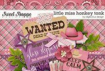{Little Miss Honky Tonk} Digital Scrapbook Kit by Digilicious Design