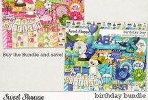 {Birthday Boy} and {Birthday Girl} Digital Collab by Digilicious Design and Lliella Designs