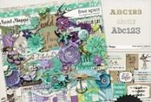 """{Free Spirit} Digital Scrapbook Collection by Digilicious Design / """"Free Spirit: A person who lives according to his or her own wishes and beliefs, unconstrained by society's conventions."""" In gorgeous shades of purple, lilac and aqua, this whimsical kit has just a hint of nautical influence. Perfect for everyday projects, beachy photos and inspirational moments."""