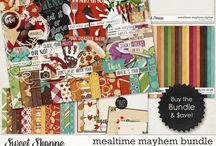 {Mealtime Mayhem} Digital Scrapbooking Collection by Digilicious Design