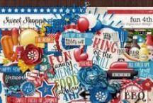 {Fun 4th} Digital Scrapbook Kit by Digilicious Design