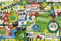 {Sports Crazy - Tennis} Digital Scrapbook Collection by Digilicious Design