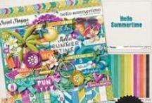 {Hello Summertime} Digital Scrapbook Collection by Digilicious Design