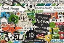 {Sports Crazy: Soccer} Digital Scrapbook Kit by Digilicious Design