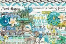 {Summers Calling: Surf} Digital Scrapbook Kit by Digilicious Design