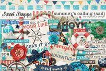 {Summers Calling: Sail} Digital Scrapbook Kit by Digilicious Design