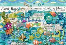 {Summer's Calling: Deep} Digital Scrapbook Kit by Digilicious Design