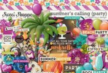 {Summer's Calling: Party} Digital Scrapbook Kit by Digilicious Design