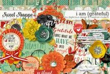 {I Am Grateful} Digital Scrapbook Collab by Digilicious Designs and Meghan Mullens