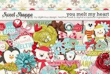 {You Make Me Melt} Digital Scrapbook Collab Kit